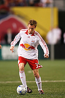 New York Red Bulls midfielder Chris Leitch (33). The New York Red Bulls and the New England Revolution played to a 1-1 tie during a Major League Soccer match at Giants Stadium in East Rutherford, NJ, on April 19, 2008.