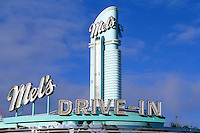 Famous Los Angeles Hoolywood landmark in California USA famous movie Mels Drive In Dine