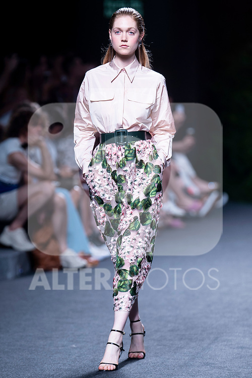 A model walks the runway at the 'The 2nd Skin Co' catwalk during the Mercedes-Benz Madrid Fashion Week Spring/Summer in Madrid, Spain. July 09, 2018. (ALTERPHOTOS/Borja B.Hojas)
