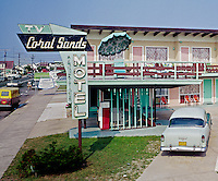 Coral Sands Motel, Wildwood Crest, NJ. Neon sign - 1960's.