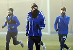 St Johnstone Training…. 06.01.21<br />Stevie May pictured during a foggy training session at McDiarmid Park ahead of Saturday's game against local rivals Dundee Utd.<br />Picture by Graeme Hart.<br />Copyright Perthshire Picture Agency<br />Tel: 01738 623350  Mobile: 07990 594431