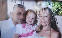 Pictured L-R: Theodosis Katifes with his  five year old daughter Sevasti, two of the victims.<br /> Re: Tharsivoulos Lykourezos, the captain of a speedboat that collided with a tourist boat off the Greek island of Aegina, leaving four people dead, has appeared in court and was given until Friday to prepare his defense.<br /> Relatives of the victims shouted insults and were held back by police as the 77-year-old arrived at the courthouse in Greece's main port city of Piraeus.<br /> The speedboat called Duente collided Tuesday with a tourist boat called Antonia carrying more than 20 people from the island to a beach on a nearby islet. The dead included a 5-year-old girl and her father. Authorities initially said the child was about 9.<br /> The health ministry says 16 people in all were hurt, with five requiring hospital treatment. Two suffered serious injuries, including a woman whose leg was partially severed.