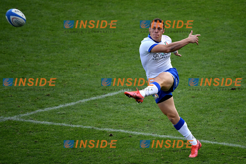 Paolo Garbisi of Italy in action during the rugby Autumn Nations Cup's match between Italy and Scotland at Stadio Artemio Franchi on November 14, 2020 in Florence, Italy. Photo Andrea Staccioli / Insidefoto