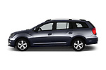 Car Driver side profile view of a 2017 Dacia Logan-MCV Laureate 5 Door Wagon Side View