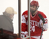Paul Gallivan, Mary Grace Kelley (BU - 24) - The Boston College Eagles defeated the visiting Boston University Terriers 5-3 (EN) on Friday, November 4, 2016, at Kelley Rink in Conte Forum in Chestnut Hill, Massachusetts.The Boston College Eagles defeated the visiting Boston University Terriers 5-3 (EN) on Friday, November 4, 2016, at Kelley Rink in Conte Forum in Chestnut Hill, Massachusetts.