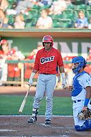 Franklin Navarro (41) of the Orem Owlz bats against the Ogden Raptors in Pioneer League action at Lindquist Field on June 27, 2017 in Ogden, Utah. Ogden defeated Orem 14-5. (Stephen Smith/Four Seam Images)