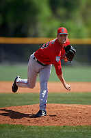 Boston Red Sox pitcher Connor Berry (88) during a Minor League Spring Training game against the Tampa Bay Rays on March 25, 2019 at the Charlotte County Sports Complex in Port Charlotte, Florida.  (Mike Janes/Four Seam Images)