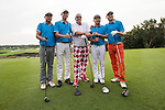 John Daly (centre) during the World Celebrity Pro-Am 2016 Mission Hills China Golf Tournament on 21 October 2016, in Haikou, China. Photo by Victor Fraile / Power Sport Images