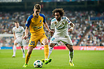 Roland Sallai (l) of APOEL FC competes for the ball with Marcelo Vieira Da Silva of Real Madrid during the UEFA Champions League 2017-18 match between Real Madrid and APOEL FC at Estadio Santiago Bernabeu on 13 September 2017 in Madrid, Spain. Photo by Diego Gonzalez / Power Sport Images