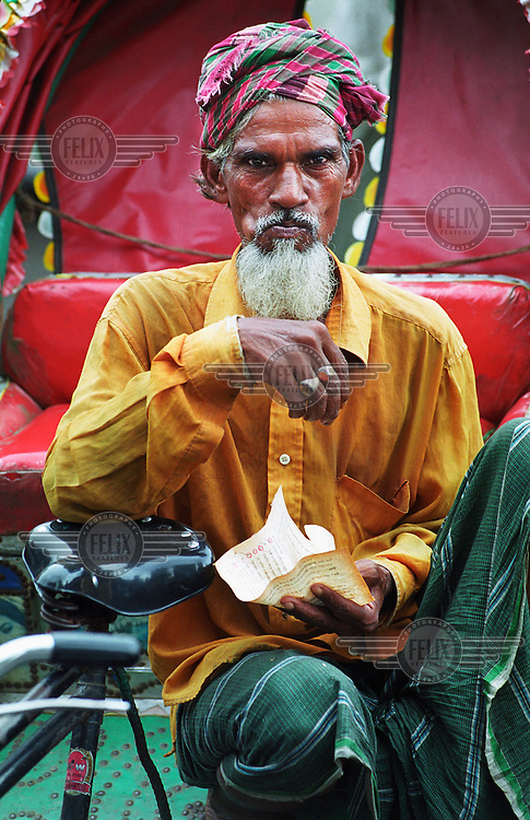Dhaka is a city of over 600,000 rickshaws. The drivers - rickshaw wallahs - are mostly migrants from the countryside. Sadar is a 59 year old father of five.