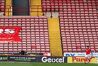 20th March 2021, Oakwell Stadium, Barnsley, Yorkshire, England; English Football League Championship Football, Barnsley FC versus Sheffield Wednesday; An early corner kick taken by Alex Mowatt of Barnsley