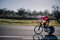 Bauke Mollema (NED/Trek-Segafredo) in TT-mode at the Team Trek-Segafredo Mallorca training camp <br /> <br /> January 2018