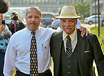 Sonnie Hereford IV and his father Dr. Sonnie Hereford recreate their Sept. 9, 1963 walk along Governors Dr. to enroll Sonnie as the first black student at an Alabama public school on the 50th anniversary of the event. (Bob Gathany/bgathany@al.com)