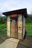 Small quaint post office in country side in Grenada Caribbean