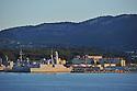 20/06/15 - TOULON - VAR - FRANCE - La Rade de Toulon et son port militaire. La fregate Paul Chevalier - Photo Jerome CHABANNE