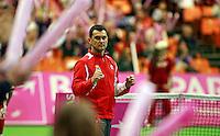 Serbian team captain Dejan Vranes, Fed Cup Serbia vs Canada, World group II, first round, Novi Sad, Serbia, SPENS Sports Center, Sunday, February 06, 2011. (photo: Srdjan  Stevanovic)(credit image & photo: Pedja Milosavljevic / +381 64 1260 959 / thepedja@gmail.com )