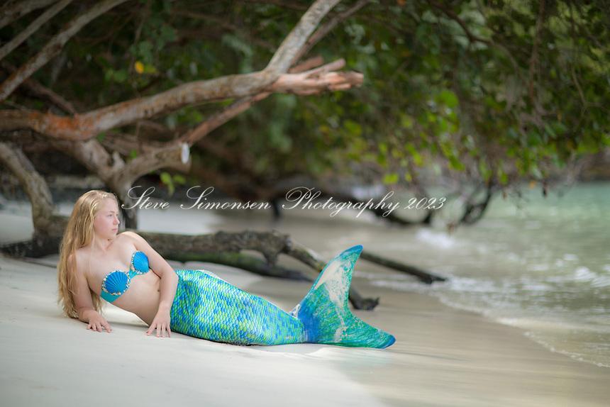 Mermaid at Maho Bay<br /> Virgin Islands National Park<br /> St. John<br /> U.S. Virgin Islands
