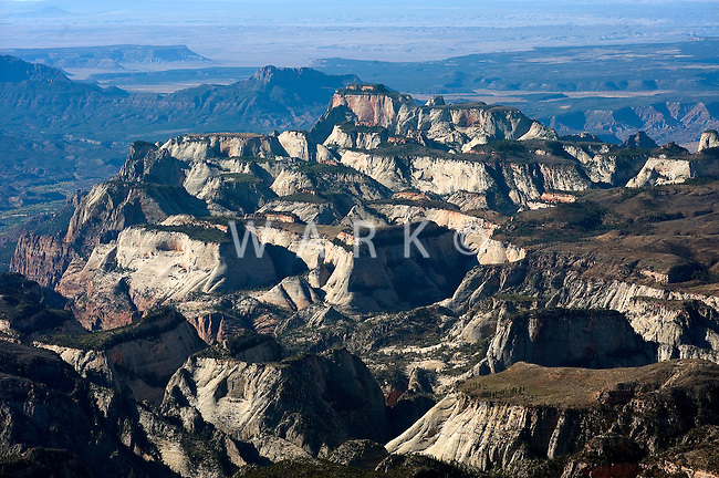 Aerial of Zion National Park, UT
