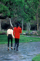 Lisa Marie Presley & Michael Jackson at Neverland Ranch  during a VIP visiit by a group of children.  Santa Maria, CA   April 18, 1995.©2009 Kathy Hutchins / Hutchins Photo .
