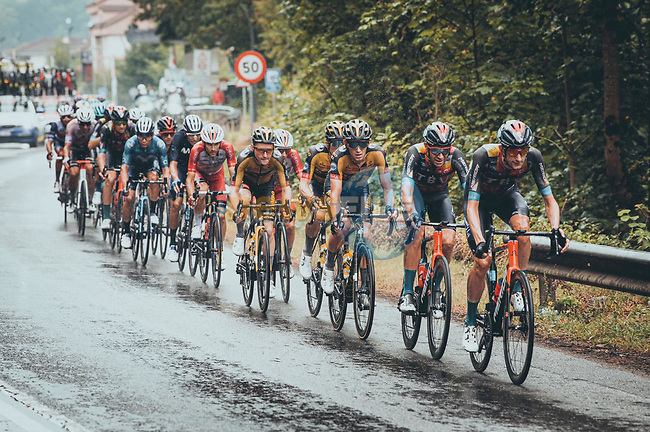 The peloton during Stage 17 of La Vuelta d'Espana 2021, running 185.8km from Unquera to Lagos de Covadonga, Spain. 1st September 2021.    <br /> Picture: Cxcling | Cyclefile<br /> <br /> All photos usage must carry mandatory copyright credit (© Cyclefile | Cxcling)
