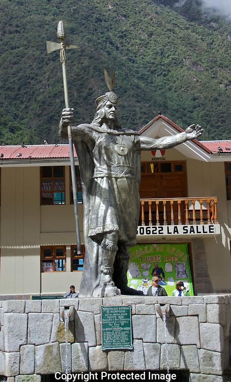 Monument in Machu Picchu