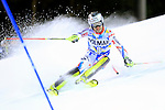 Julien Lizeroux competes during the FIS Alpine Ski World Cup Men's Slalom in Madonna di Campiglio, on December 22, 2015.