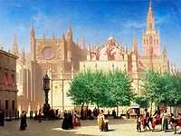 Achille Zo (1826-1901)<br /> The Cathedral of Seville<br /> Oil on canvas<br /> Musee Bonnat, Bayonne, France