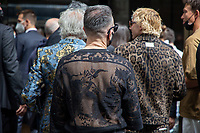 Milan,Italy - 19th june 2021 - Dolce & Gabbana fashion show for Milano fashion week Men's collection 18-22 june 2021 - guests at the entrance