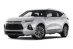 Stock pictures of low aggressive front three quarter view of 2020 Chevrolet Blazer Premier 5 Door SUV Low Aggressive