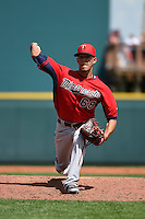 Minnesota Twins pitcher Jose Berrios (68) during a Spring Training game against the Pittsburgh Pirates on March 13, 2015 at McKechnie Field in Bradenton, Florida.  Minnesota defeated Pittsburgh 8-3.  (Mike Janes/Four Seam Images)