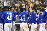 MONTERIA - COLOMBIA, 15-01-2020: Vaqueros de Montería y Gigantes de Barranquilla en partido 5 de la serie final de la Liga Profesional de Béisbol Colombiano temporada 2019-2020 jugado en el estadio estadio Dieciocho de Junio de la ciudad de Montería. / Vaqueros de Monteria and Gigantes de Barranquilla in match 5 final serie as part Colombian Baseball Professional League season 2019-2020 played at Baseball Stadium on June 18 in Monteria city. Photo: VizzorImage / Andres Felipe Lopez / Cont
