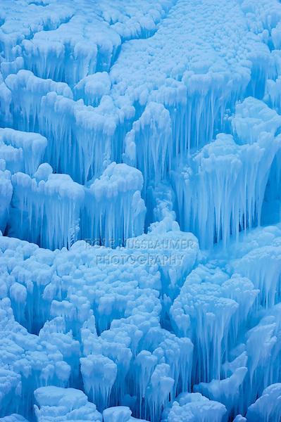 Frozen waterfall, Schaechental, Uri, Switzerland