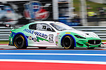 Race cars in action during the Pirelli World Challenge race at the Circuit of the Americas race track in Austin,Texas.