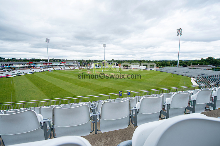 Picture by Allan McKenzie/SWpix.com - 01/08/2020 - Sport - Cricket - Durham County Cricket Club v Yorkshire County Cricket Club - The Bob Willis Trophy - Emirates Riverside Cricket Ground, Chester-Le-Street, England - a general view (GV) of Durham playing Yorkshire behind closed doors.