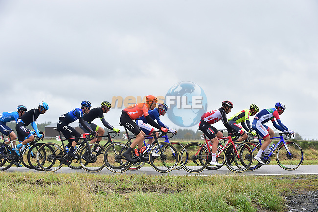 Tim Declercq (BEL) Deceuninck-Quick Step on the front of the peloton during Liege-Bastogne-Liege 2020, running 257km from Liege to Liege, Belgium. 4th October 2020.<br /> Picture: ASO/Gautier Demouveaux   Cyclefile<br /> All photos usage must carry mandatory copyright credit (© Cyclefile   ASO/Gautier Demouveaux)