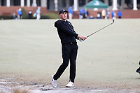 PINEHURST, NC - MARCH 02: Mark Power of Wake Forest University hits an approach shot on the first hole at Pinehurst No. 2 on March 02, 2021 in Pinehurst, North Carolina.