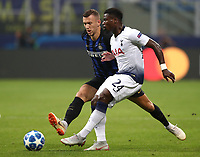 Football Soccer: UEFA Champions League FC Internazionale Milano vs Tottenham Hotspur FC, Giuseppe Meazza stadium, September 15, 2018.<br /> Inter's Ivan Perisic (l) in action with Tottenham's Serge Aurier (r) during the Uefa Champions League football match between Internazionale Milano and Tottenham Hotspur at Giuseppe Meazza (San Siro) stadium, September 18, 2018.<br /> UPDATE IMAGES PRESS/Isabella Bonotto