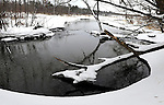 Mother nature coats the landscape with newly fallen snow as the Plover River flows through Iverson Park. (DOUG WOJCIK/STEVENS POINT JOURNAL)