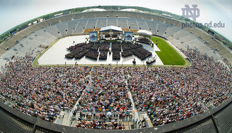 May 19, 2013; 2013 Commencement ceremony in Notre Dame Stadium...Photo by Matt Cashore/University of Notre Dame