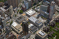 aerial photograph Lincoln Center, Avery Fisher Hall, Broadway, Manhattan, New York City