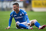 St Johnstone v Motherwell...22.08.15  SPFL   McDiarmid Park, Perth<br /> Michael O'Halloran<br /> Picture by Graeme Hart.<br /> Copyright Perthshire Picture Agency<br /> Tel: 01738 623350  Mobile: 07990 594431