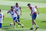 Sergio Ramos, David Villa and Gerard Pique during training of the spanish national football team in the city of football of Las Rozas in Madrid, Spain. August 30, 2017. (ALTERPHOTOS/Rodrigo Jimenez)