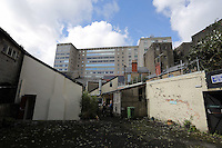 WORDS BY KARL WEST<br /> Pictured: Alexandra House as seen from the back yard of the Adam and Eve pub Friday 30 September 2016<br /> Re: The regeneration of the High Street in Swansea, Wales, UK