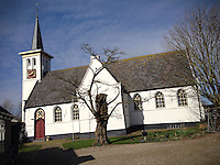 Hauwert, 16 March 2014<br /> <br /> The white church of the village of Hauwert in West Friesland in the province of North Holland of the Netherlands. This church originates from the 15th century and is kept in a very good state.<br /> <br /> Photo Kees Metselaar