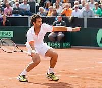 15-09-12, Netherlands, Amsterdam, Tennis, Daviscup Netherlands-Suisse, Doubles, Jean-Julian Rojer