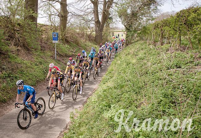 Team Jumbo-Visma packed around team leaders Primož Roglič (SVN/Jumbo-Visma) & Wout van Aert (BEL/Jumbo-Visma)<br /> <br /> 55th Amstel Gold Race 2021 (1.UWT)<br /> 1 day race from Valkenburg to Berg en Terblijt; raced on closed circuit (NED/217km)<br /> <br /> ©kramon