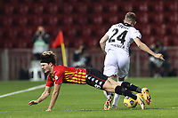 Foulon Daam of Benevento Calcio and Nahuel Estevez of Spezia Calcio compete for the ball<br /> during the Serie A football match between Benevento Calcio and Spezia Calcio at stadio Ciro Vigorito in Benevento (Italy), November 7th, 2020. <br /> Photo Cesare Purini / Insidefoto