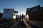 Notts County 0 Mansfield Town 0, 14/01/2017. Meadow Lane, League Two. Fans stopping for a burger after the game. Photo by Paul Thompson.