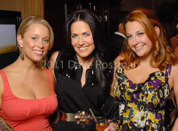 Dana Wolf, Tiffany Halik and Stacy Soefer at the Health Museum Casino Party at the Four Seasons Hotel Saturday Aug. 15, 2009.(Dave Rossman/For the Chronicle)