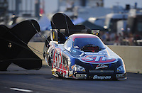Jul, 9, 2011; Joliet, IL, USA: NHRA funny car driver Tony Pedregon during qualifying for the Route 66 Nationals at Route 66 Raceway. Mandatory Credit: Mark J. Rebilas-